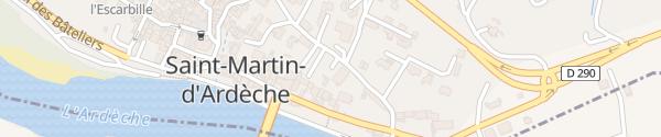 Karte Chemin du Grand Clos Saint-Martin-d'Ardèche