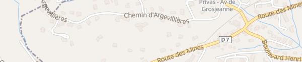 Karte Chemin d'Argevillières Privas
