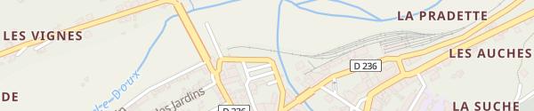 Karte Place Pradon Lamastre