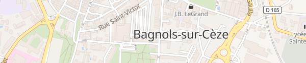 Karte Parking Place Pierre Boulot Bagnols-sur-Cèze
