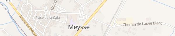 Karte Le Village Meysse