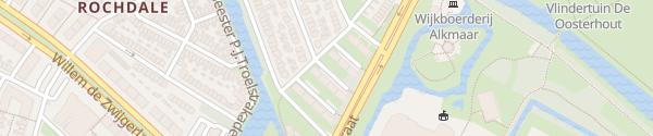 Karte Van Hallstraat Alkmaar
