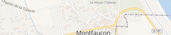 Karte Place du 11 Novembre 1918 Montfaucon