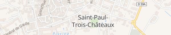 Karte Le Courreau Saint-Paul-Trois-Châteaux