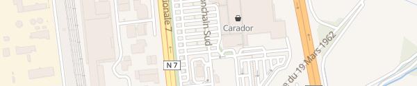 Karte Carrefour Salaise-sur-Sanne