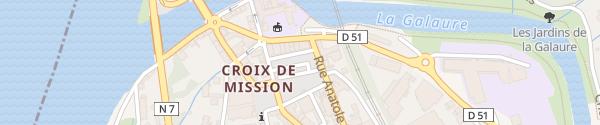 Karte Place du Champ de Mars Saint-Vallier