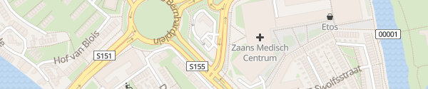 Karte McDonald's Zaandam