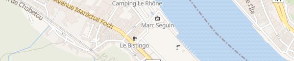 Karte Camping de Tournon Tournon-sur-Rhône