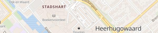 Karte Zuidtangent / Middenwaard Heerhugowaard