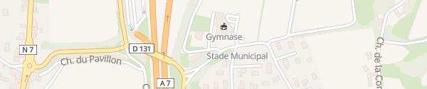 Karte Gymnase Reventin-Vaugris