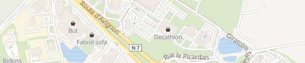 Karte Decathlon Orange