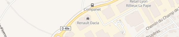 Karte Renault Rillieux La Pape