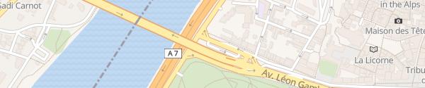 Karte Avenue Gambetta Valence