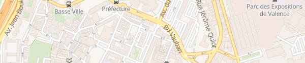 Karte Avenue du Président Herriot Valence