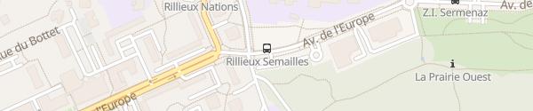 Karte Avenue de l'Europe Rillieux-la-Pape