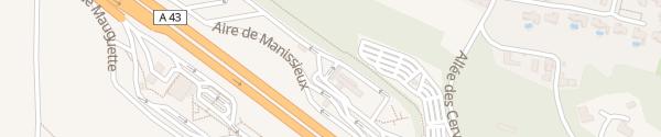Karte Tesla Supercharger Aire de Manissieux Saint-Priest