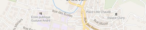 Karte Rue des Écoles Chabeuil