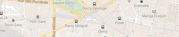 Karte DiviaPark Darcy-Liberté Dijon