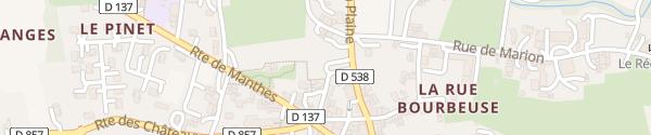 Karte Le Village Lens-Lestang