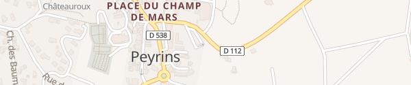Karte Parking Peyrins
