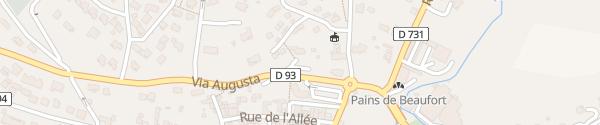 Karte Impasse Rochecolombe Aouste-sur-Sye