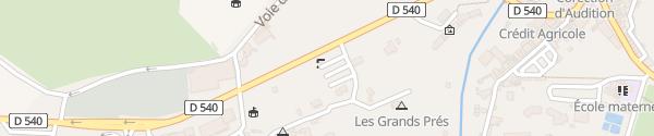 Karte Allée des Promenades Dieulefit