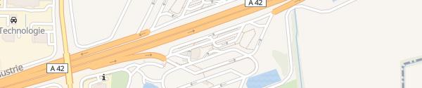 Karte Aire de Lyon-Dagneux Dagneux