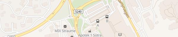 Karte Sartor Storsenter Straume