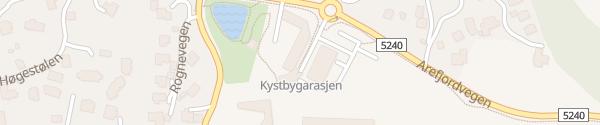 Karte Kystbygarasjen Straume