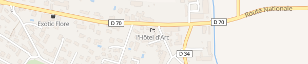 Karte Logis l'Hôtel d'Arc Arc sur Tille