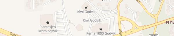 Karte Kiwi Godvik Bergen