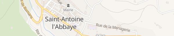 Karte Le Bourg Saint-Antoine-l'Abbaye