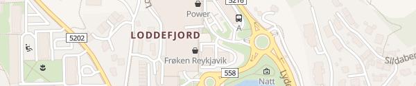 Karte Esso Vestkanten Loddefjord