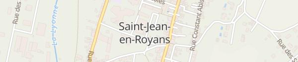 Karte Place de la Liberté Saint-Jean-en-Royans