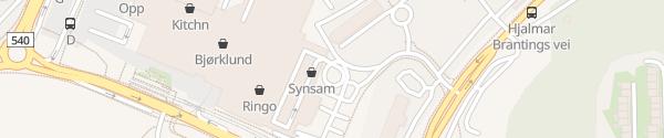Karte Schnellladesäulen Oasen Senter Fyllingsdalen