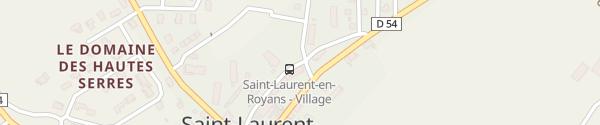 Karte Rue du Tram Saint-Laurent-en-Royans