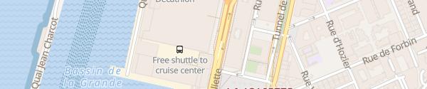 Karte Destination Charger Parking Les Terrasses du Port Marseille
