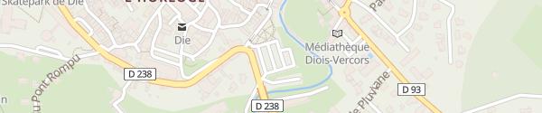 Karte Office du Tourisme Die