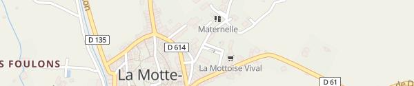 Karte Chemin de Fontouvière La Motte-Chalancon
