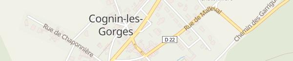 Karte Place de l'Église Cognin-les-Gorges
