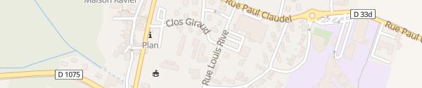 Karte Clos Giraud Morestel