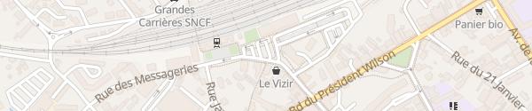 Karte Parking de la Gare Dole
