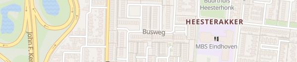 Karte Busweg Eindhoven