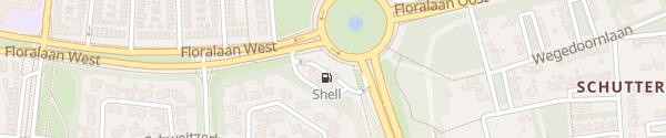 Karte Shell Floraplein Eindhoven