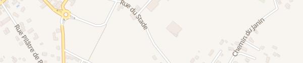 Karte Rue du Stade Dolomieu