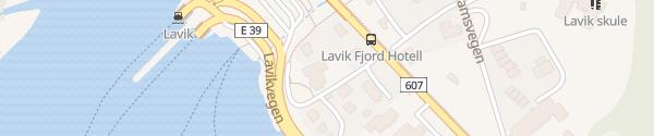 Karte Lavik Fjord Hotell Lavik