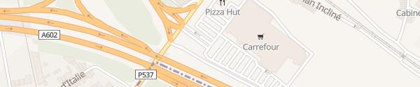 Karte Carrefour Ans