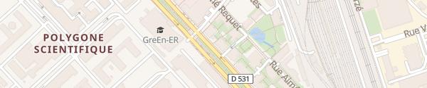 Karte Avenue des Martyrs Grenoble
