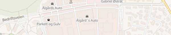 Karte Ålgårds Auto AS Sandnes