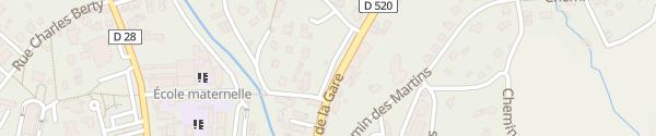 Karte Place du 10ème Regroupement Saint-Laurent-du-Pont